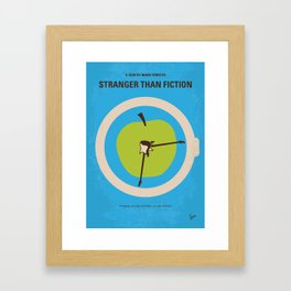 No868 My Stranger than fiction minimal movie poster Framed Art Print