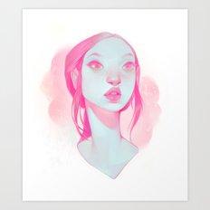 visage - pink Art Print