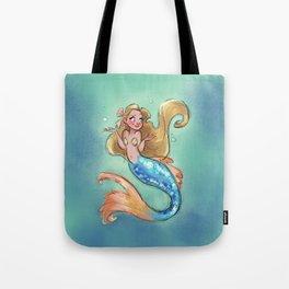 Shrugging Mermaid Tote Bag