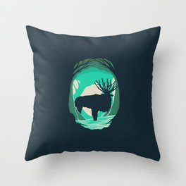 God Of The Forest Throw Pillow