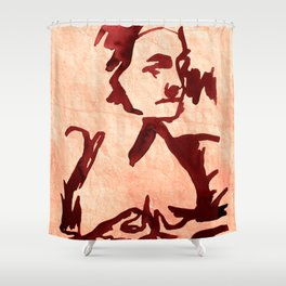 Old Woman nude Shower Curtain