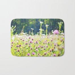 Pink Wildflowers Bath Mat