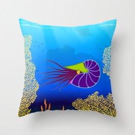 Paper Craft Nautilus Throw Pillow