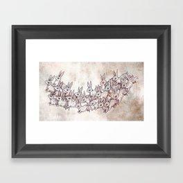 Lepus Leap Framed Art Print