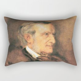Richard Wagner (1813 – 1883) by Franz von Lenbach (1836 - 1904) Rectangular Pillow