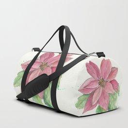 Poinsettia Duffle Bag