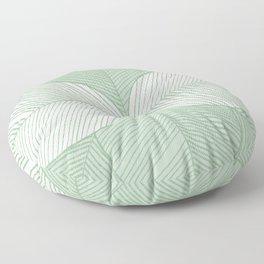 Minimal Tropical Leaves Pastel Green Floor Pillow