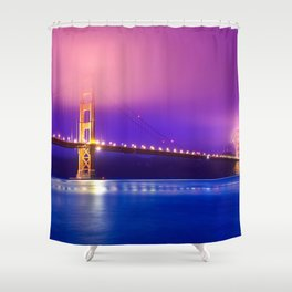 Awesome Golden Gate Suspension Bridge Clouds San Francisco California Color Saturation Ultra HD Shower Curtain