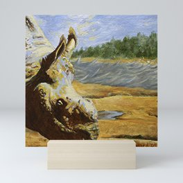 Unhorned and Dirty and Beautiful, Rhino with no horn Mini Art Print