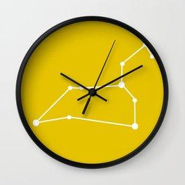 Leo (White & Gold) Wall Clock