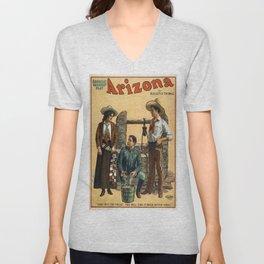 Vintage poster - Arizona Unisex V-Neck