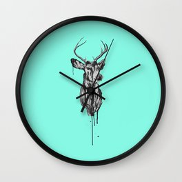 Deer Head III Wall Clock