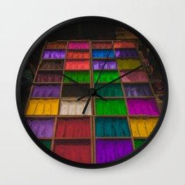 The Colors of Kathmandu City 01 Wall Clock