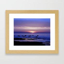 Purple Sunset on the Sea Framed Art Print