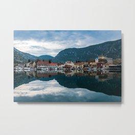 Kotor Bay - Town Metal Print