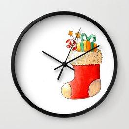 Santa's stocking Wall Clock