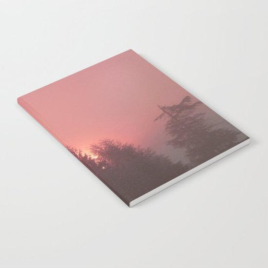 Sunrise on a foggy morning Notebook