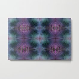 Rendering of Theoretical Spacetime and Multiverse Abstract Metal Print