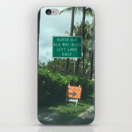 Urban signs in Hawaii iPhone Skin