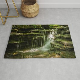 Pixley Waterfall 1 Forest Creek Rural Landscape Photograph Rug