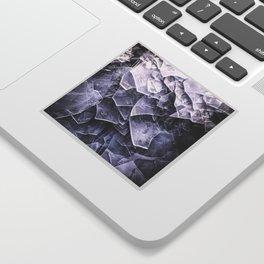 Cracked Ice Tiles In Lake Shore #decor #buyart #society6 Sticker