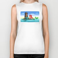 ouat Biker Tanks featuring OUAT - Mermaids by Choco-Minto