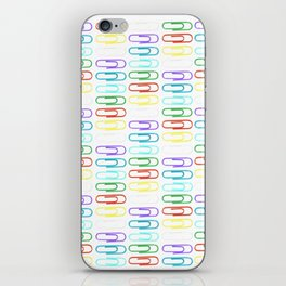 Paper Clips Pattern iPhone Skin