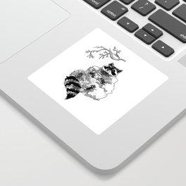 The Fanciest Raccoon Sticker