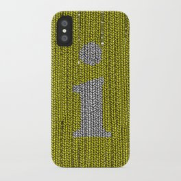 Winter clothes. Letter i. iPhone Case