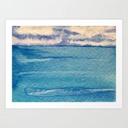 Blue Currents Art Print