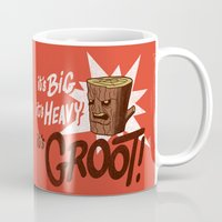 groot Mugs featuring It's Groot by Gimetzco's Damaged Goods