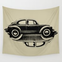 ying yang Wall Tapestries featuring VW Ying and Yang by Vin Zzep