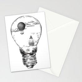 Aquarium Bulb Lighthouse Stationery Cards