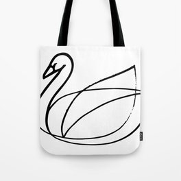 Swan, Brushed Ink Tote Bag