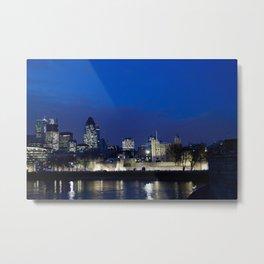 Tower of London at night Metal Print