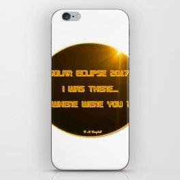 Solar Eclipse 2017:  Where Were You? iPhone Skin