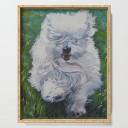 The Coton de Tuléar dog art from an original painting by L.A.Shepard Serving Tray