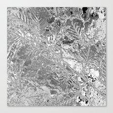 ICE - SCHWARZ/WEISS Canvas Print
