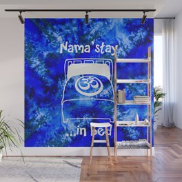 Nama'stay in Bed Blue Watercolor Wall Mural