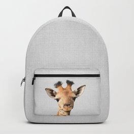 Baby Giraffe - Colorful Backpack