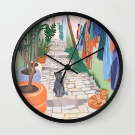 Istanbul Alley Wall Clock
