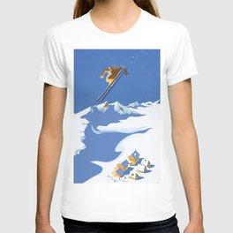 Retro Sky Skier T-shirt