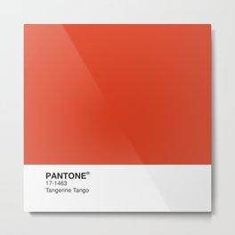 Pantone - Tangerine Tango Metal Print