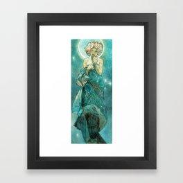 Alphonse Mucha Moonlight Art Nouveau Framed Art Print