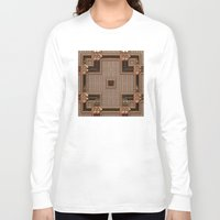 copper Long Sleeve T-shirts featuring Copper Cross by Lyle Hatch