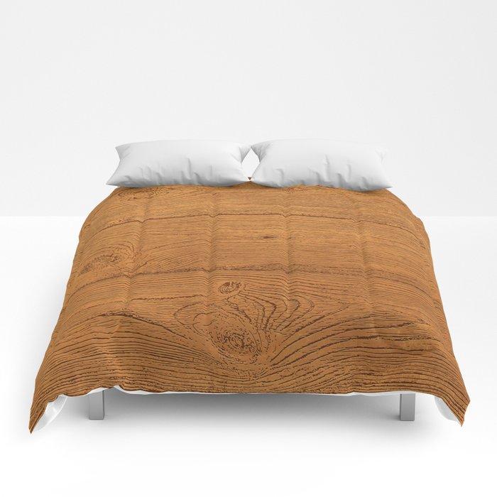 The Cabin Vintage Wood Grain Design Comforters