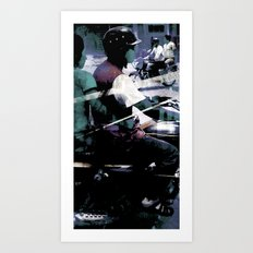 Retrollage 5.. Art Print