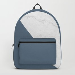 Marble Bluestone Diagonal Color block Backpack