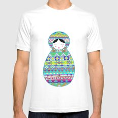 Russian Doll Mens Fitted Tee White MEDIUM