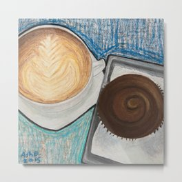 Cupcake and Coffee Metal Print